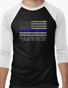 The Blue Line Men's Baseball ¾ T-Shirt