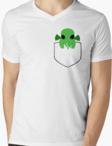 Pocket Cthulhu Mens V-Neck T-Shirt