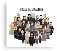 Game of Burgers Canvas Print