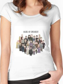 Game of Burgers Women's Fitted Scoop T-Shirt