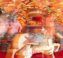 """""""Carousel Dreams"""" - merry go round at Spring Green, WI by John Hartung"""