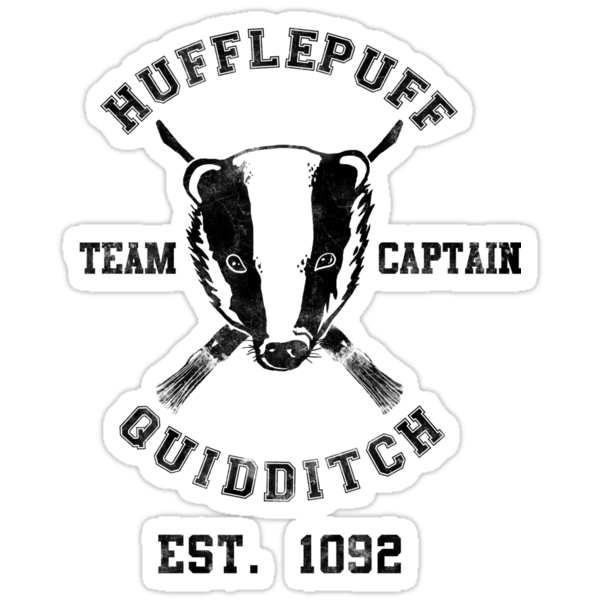 Hufflepuff Quidditch Athletic Tee Harry Potter Shirt by spacemonkeydr