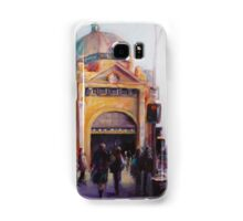 Morning bustle Flinders street Station Melbourne Samsung Galaxy Case/Skin