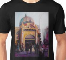 Morning bustle Flinders street Station Melbourne Unisex T-Shirt