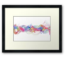 abstract colorful waves Framed Print