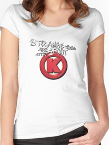Strange Things Are Afoot At The Circle K Women's Fitted Scoop T-Shirt
