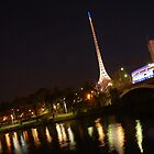 Pinpoint - The Arts Centre from the northern banks of the Yarra by Deanne Chiu