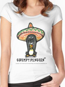 Grumpy Penguin Paco Women's Fitted Scoop T-Shirt