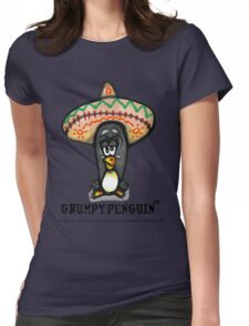 Grumpy Penguin Paco Womens Fitted T-Shirt