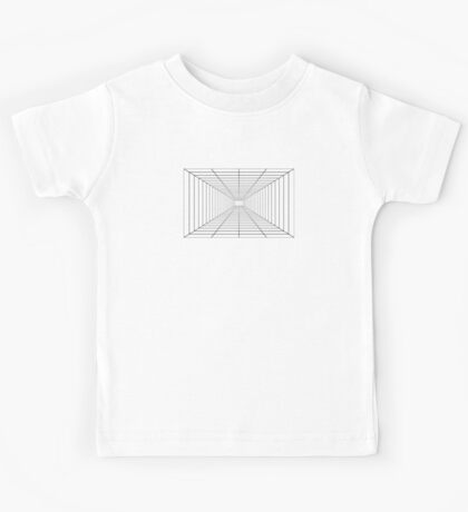 Perspective Grid - Space Station - Lines Graph Infinity Duvet Cover Kids Tee