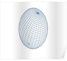 Grid Sphere - Spherical Ball Duvet Cover T-Shirt Poster