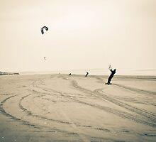Kite Boarders - Scotland by Tristan Hopkins