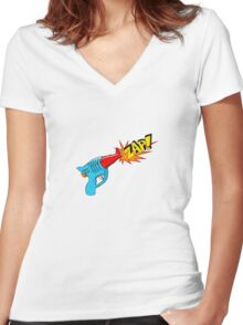 Raygun Zap Women's Fitted V-Neck T-Shirt