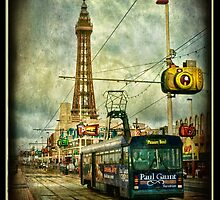 Blackpool Promenade and Tram. by Tarrby