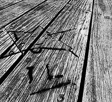 Boardwalk graffiti by Daniel Pertovt