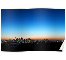 Sydney skyline at dusk Poster