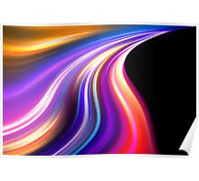 original art abstract colorful waves Poster