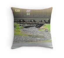 Track Wash Out at Bluff, CQ Throw Pillow