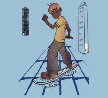 skater boy manga style by ian rogers T-Shirt