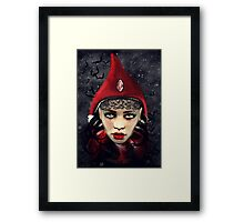Lady Red Framed Print