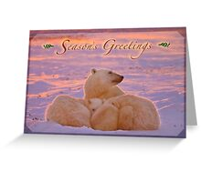 Season's Greetings from a polar family Greeting Card