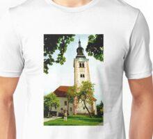 Church of the Assumption, Bled Island, Slovenia Unisex T-Shirt