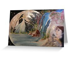 Meeting in the moon Greeting Card