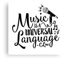 """Music is a Universal Language"" - CL,2NE1 Canvas Print"