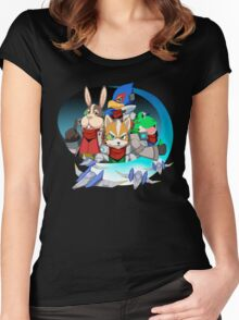 Star Fox Women's Fitted Scoop T-Shirt