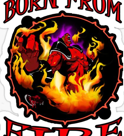 born of fire  Sticker