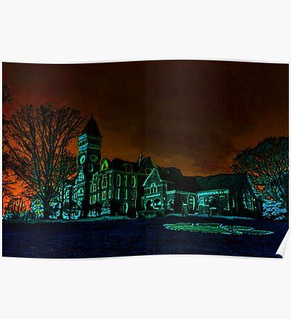 Clemson Tigers Tillman Hall Poster