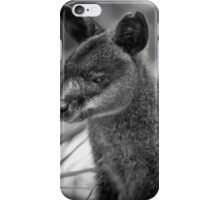 Swamp Wallaby BW iPhone Case/Skin