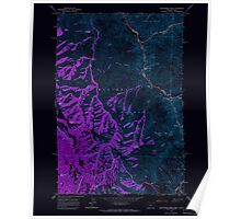 USGS Topo Map Oregon Deadhorse Ridge 279585 1963 24000 Inverted Poster