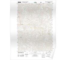 USGS Topo Map Oregon Roman Nose Mountain 20110914 TM Poster