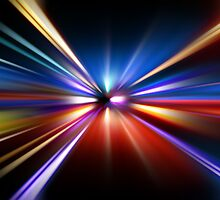 abstract night acceleration speed motion by Orderposter