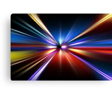 abstract night acceleration speed motion Canvas Print
