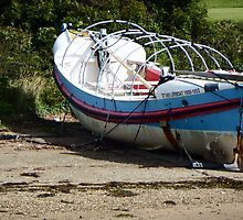 Lifeboat on a Beach by DEB VINCENT