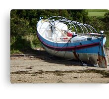 Lifeboat on a Beach Canvas Print