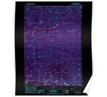 USGS Topo Map Oregon Elkhorn 279793 1985 24000 Inverted Poster