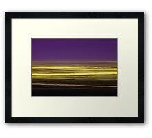 Light/dark photography series #5 (yellow and purple) Framed Print
