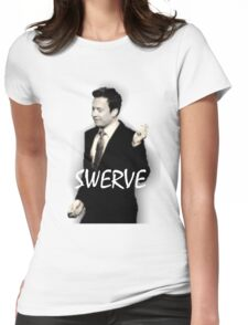Fallon Swerve White Womens Fitted T-Shirt