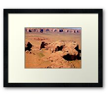 Aerial of Monument Valley, Arizona Framed Print