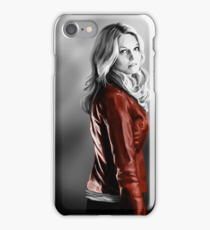 Emma Swan and the Red Leather Jacket iPhone Case/Skin