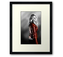 Emma Swan and the Red Leather Jacket Framed Print
