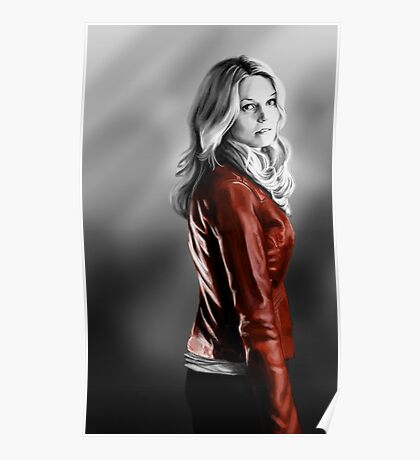 Emma Swan and the Red Leather Jacket Poster