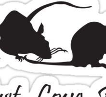 Must. Love. Rats 2011 - 4 Rats in a Row Sticker