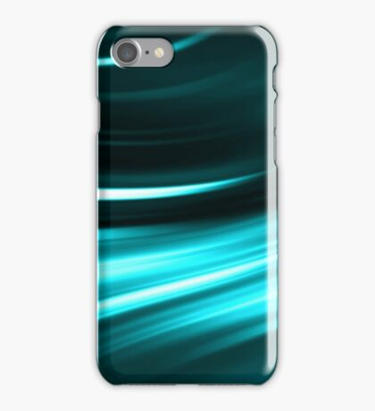 abstract night blue neon background iPhone Case/Skin