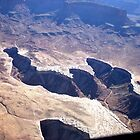 aerial of Canyonlands - Island in the Sky area by Margaret  Hyde