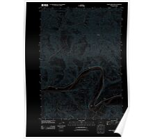 USGS Topo Map Oregon Devils Graveyard 20110824 TM Inverted Poster