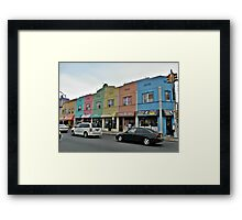 Rainbow Plaza Framed Print